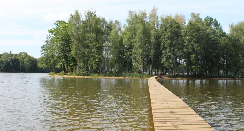 Ostrov na rybníku Hejtman